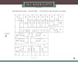 MC Kiser Lofts site map